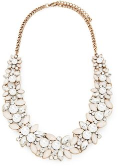 FOREVER 21 Faux Stone Statement Necklace