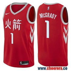 f13ff2baba1c Houston Rockets  1 Tracy McGrady Red Nike NBA Men s Stitched Swingman Jersey  City Edition