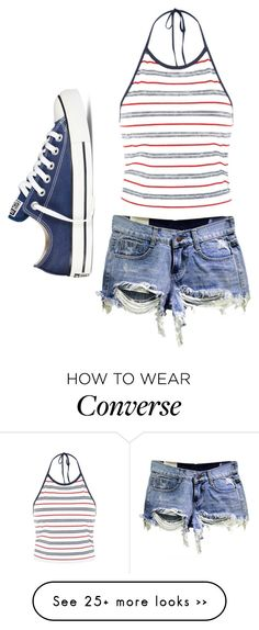 """#13"" by jo-dude on Polyvore featuring Converse"
