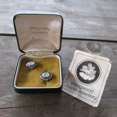 Wedgwood Jasper Cameo Clip Earrings in Original Box with Lena and the Swan Scene by DresdenCreations on Etsy, $50.00