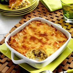 Gratin de courgette et macaronis au fromage à raclette