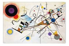 Kandinski Abstract II Canvas Wall Art Reproduction, 5 Stars Gift Startonight 23.62 x 35.43 in