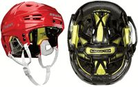 VERTEX foam protection,enhanced impact management with significant weight reduction SUSPEND-TECH liner system w/ PORON® XRD™, true free-floating suspension liner offers enhanced protection and maximum comfort  Triple-density impact management protection Dual density ear cover protection, increased ear protection with clear protective film to eliminate abrasion . Hockey Helmet, Hockey Gear, Ice Hockey, Hockey Apparel, Ear Protection, Bicycle Helmet, Cycling Helmet, Hockey Puck