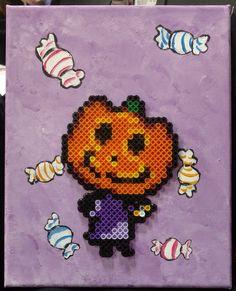 Jack the Czar of Halloween by NomDePixel on DeviantArt Easy Perler Bead Patterns, Cross Stitch Patterns, Pixel Art, Melty Bead Designs, Art Perle, Peler Beads, Iron Beads, Melting Beads, Beaded Cross Stitch