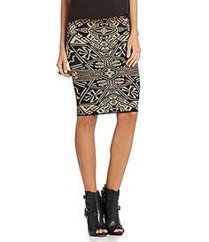 Gianni Bini Lance Knit Skirt #Dillards