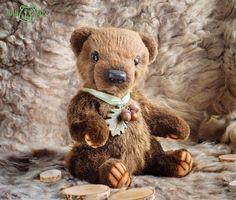 Мишенька  Очень ручной и тискательный #jullitoy #teddybear #bear #teddybearartist #теддибрянск #теддимедведи #теддимишка  #мишка