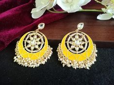 Etsy Jewelry, Boho Jewelry, Bridal Jewelry, Handmade Jewelry, Fashion Jewelry, Pakistani Jewelry, Bollywood Jewelry, Indian Earrings, Unique Earrings