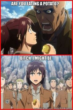 Sasha by far my favorite attack on Titan character