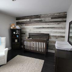 Babyroom bois de planche shade on grey