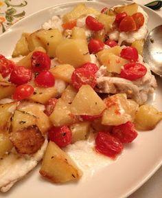 L'incapace in Cucina: Rana Pescatrice al Forno con Patate & Pomodorini