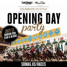 Don't miss all-inclusive party at @morganrunRSF on @DelMarRacing Opening Day: http://sdmag.us/races  #SDMOpeningDay pic.twitter.com/9nFPTGq3dV