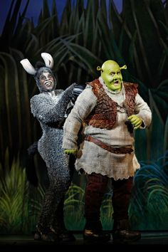 """""""Shrek the Musical"""" (Photo credit: DreamWorks Theatricals (Joan Marcus) """"Shrek the Musical"""" is coming to the Pantages Theatre in H. Donkey Costume, Shrek Costume, Costumes, Costume Ideas, Broadway Theatre, Musical Theatre, Broadway Shows, Broadway Plays, Burro Do Shrek"""