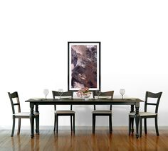 Abstract Acrylic Painting Brown, Bla - Saribelle Inspirational Art