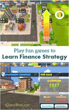 play fun games to learn finance and business strategy - a fun app for kids