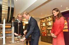 Next, William and Kate visited The Famous Grouse Distillery where they toured the facility.