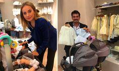 ¡Tarde de 'shopping'! Elizabeth Álvarez y Jorge Salinas, los más consentidores con sus bebés
