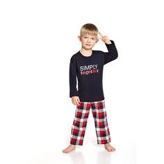 pyjama Garçon enfant Bleu & carreaux together Cornette coton 2 à 14 ans
