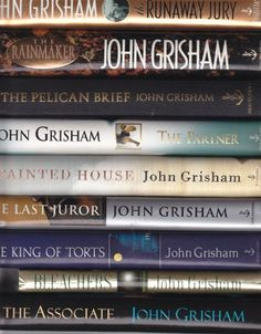 John Grisham #books LOVE them.  Have read every one of his books.  Even the children's books....so good!