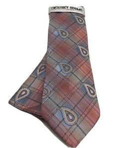 Stacy Adams Men's Tie Hanky Set Coral Powder Blue & Brown Hand Made Microfiber | eBay Pocket Square Styles, Neck Ties, Blue Brown, Powder, Coral, Pattern, Fabric, Handmade, Ebay