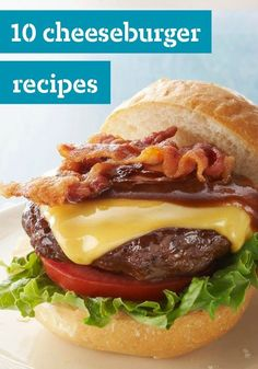 10 Cheeseburger Recipes — If it's summer, it's time to get the BBQ grill ready and make burgers. Whether it's topped with cheese or bacon or just kept simple, you'll find the perfect burger recipe for you here.