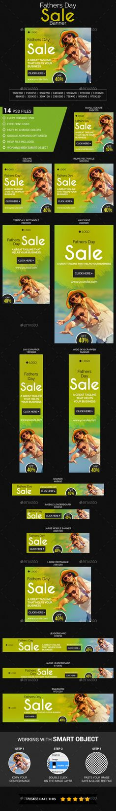 #Fathers #Day #Sale #banner #template - #Banners & #Ads #Web #Elements #design. download here: https://graphicriver.net/item/fathers-day-sale/20100049?ref=yinkira