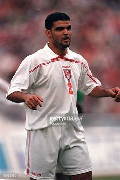 Football 2002 World Cup Qualifier African Second Round Group D 20th May 2001 Tunis Tunisia 1 v Cote d'Ivoire 1 Tunisia's Khaled Badra