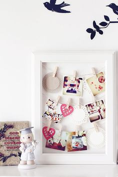 Use twine to create a hanging photo
