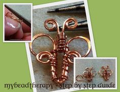 Tutorial Wire Wrapped Butterfly Link