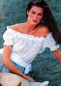 Clotilde Ralph Lauren Cosmetics, American Vogue, March 1982.