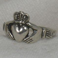 Hey, I found this really awesome Etsy listing at https://www.etsy.com/listing/182461342/claddagh-ring-irish-friendship-ring