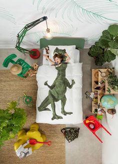 Dino dekbedovertrek uit de collectie van Snurk beddengoed, verkrijgbaar bij Top Interieur in Izegem en in Massenhoven