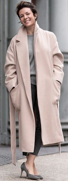 Garance Doré Dusty Pink Oversized Coat Fall Street Style Inspo #Fashionistas
