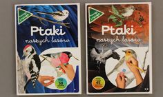 """Książki ze szkicownikami """"Ptaki naszych lasów"""" z Multico, dwie części <3"""