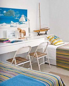 Weiß Blau Jungenzimmer Pferd-Spielzeuge Kinderzimmer