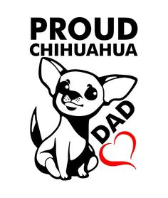 0ac1bf3701 Proud Chihuahua Dad Vinyl Stickers