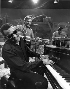 Ray Charles Robinson (September 1930 – June was an American singer-songwriter, musician and composer known as Ray Charles. He was a pioneer in the genre of soul music during the by fusing rhythm and blues, gospel, and blues styles. Music Film, Music Icon, Soul Music, Music Is Life, Music Radio, Ray Charles, Rhythm And Blues, Jazz Blues, Atlantic Records