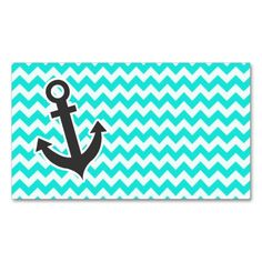 Nautical Anchor on Aqua Color Chevron Double-Sided Standard Business Cards (Pack Of 100). This great business card design is available for customization. All text style, colors, sizes can be modified to fit your needs. Just click the image to learn more!