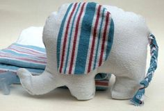 Baby elephant from the hospital blanket