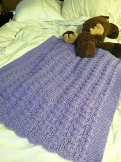 Purple lace baby blanket.  Love this pattern.