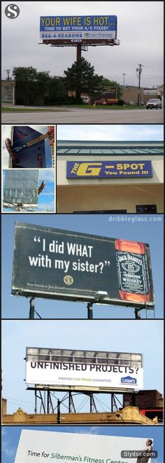 15 of The Most Hilarious Billboards Ever #funnypics #creativebillboards #billboards #funnyads #doublemeaning