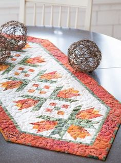 Orange City Tulips Table Runner - Quilting Digest