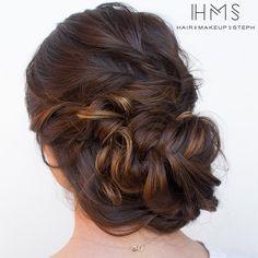 hairandmakeupbysteph: Soft braided updo. #hairandmakeupbysteph