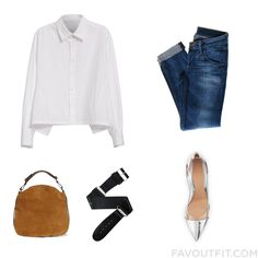 Shopping Advices Featuring Ys By Yohji Yamamoto Blouse Cropped Jeans Gianvito Rossi Pumps And Hobo Handbag From October 2016 #outfit #look