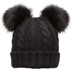 c167c3fb96b Best Seller Women s Winter Cable Knitted Faux Fur Double Pom Pom Beanie Hat  Plush Lining. online