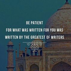 Islamic Quotes on Sabr/Patience. Islam is the complete code of life. Allah SWT has given us the book of Quran for our guidance. Sabr and patience in Islam have been given great importance as it makes us pious and increases our Iman and faith in Allah SWT. Islamic Inspirational Quotes, Best Islamic Quotes, Beautiful Islamic Quotes, Islamic Qoutes, Islamic Teachings, Muslim Quotes, Religious Quotes, Quotes On Islam, Quotes In Arabic