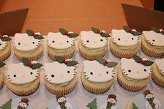 Hello Kitty Christmas Cupcakes