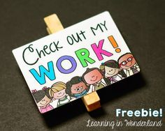 Pick up this freebie to display your student work!