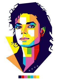 Ideas music pop art ideas for 2019 Pop Art Portraits, Portrait Art, Michael Jackson Kunst, Art Sketches, Art Drawings, Polygon Art, Jackson's Art, Photoshop, Geometric Art