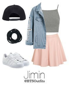 """""""Getting his attention at a Concert"""" by btsoutfits ❤ liked on Polyvore featuring Topshop, Glamorous, adidas Originals and Boohoo"""