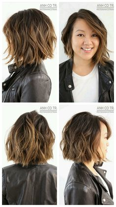 Best Bob Hairstyles & Haircuts for Women - Hairstyles Trends Messy Bob Hairstyles, Medium Bob Hairstyles, Hairstyles Haircuts, Wavy Bob Haircuts, Haircut Thick Wavy Hair, Medium Hair Styles, Curly Hair Styles, Medium Choppy Hair, Hair Highlights